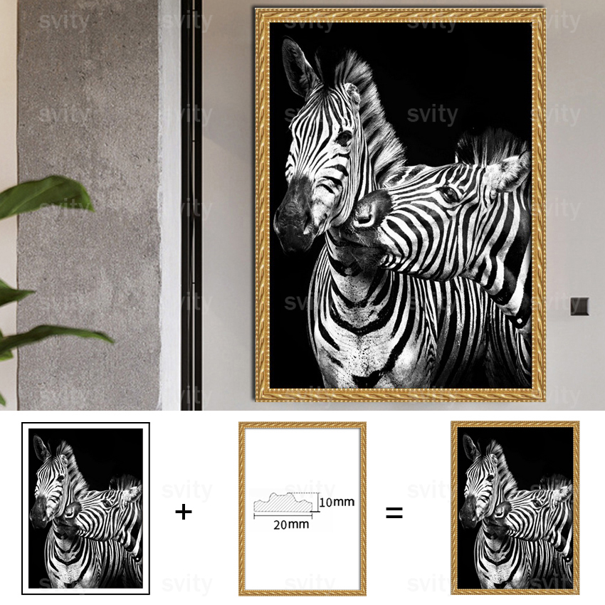 Honey Popular Modern Decor Painting Cartoon Animal Monkey Self-adhesive Pvc Paper Print Home Wall Art For Living Room Picture Tz048 100% Original Home Decor Painting & Calligraphy