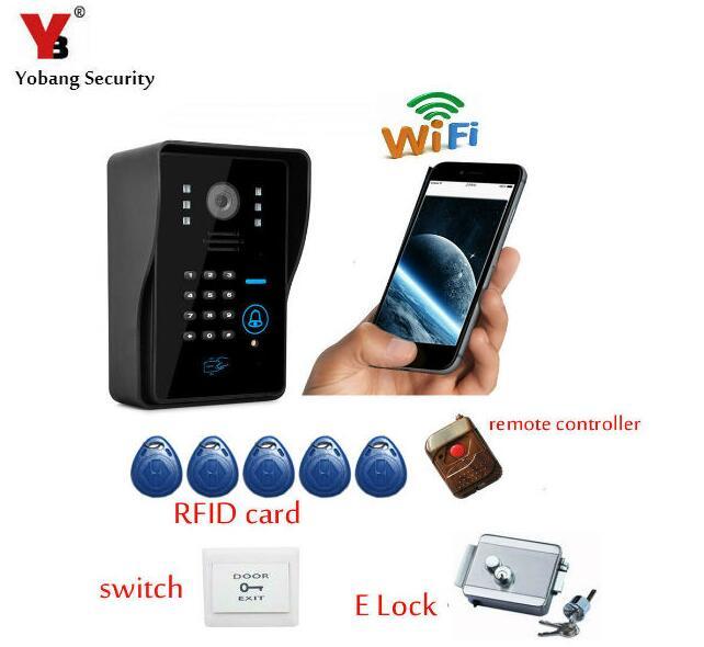 Yobang Security Wifi Doorbell Camera Wifi Video Door <font><b>Phone</b></font> Doorbell Wireless Intercom Support <font><b>IOS</b></font> Android Night Vision