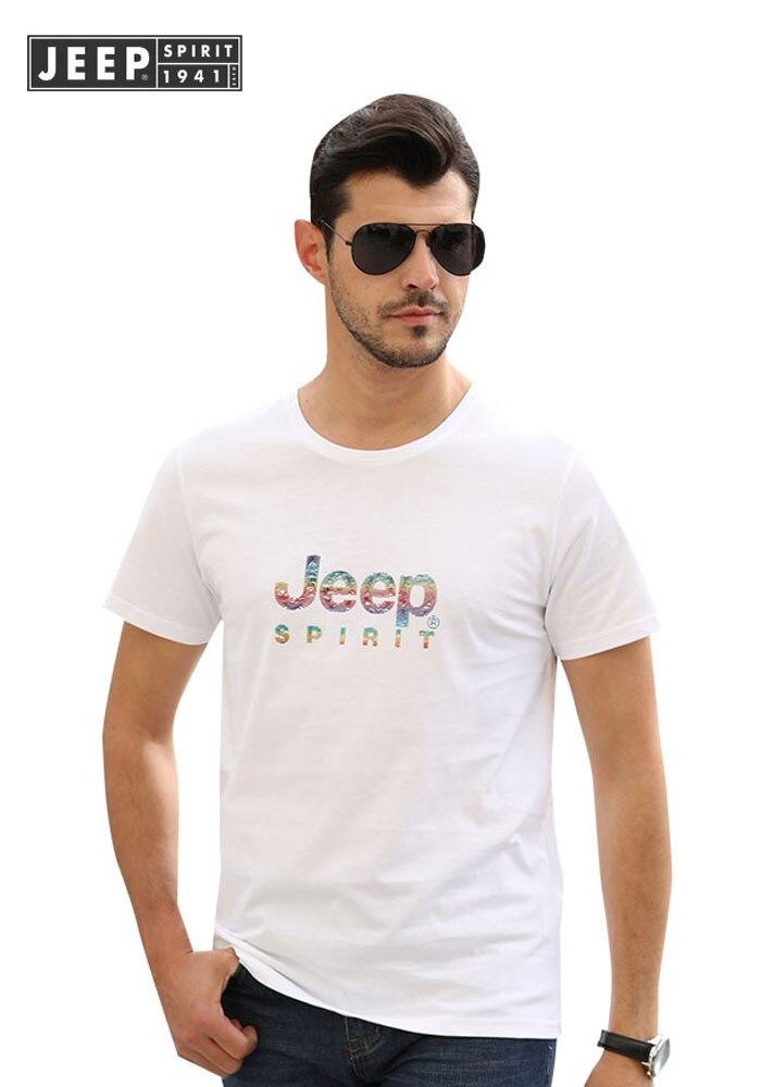 JEEP marque hommes vêtements 2019 été hauts pour hommes T-Shirts en coton T-Shirts Smart décontracté à manches courtes lettre t-shirt de haute qualité t-shirt