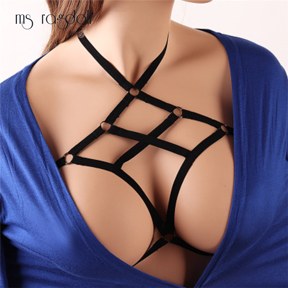 Ms Ragdoll Women Sexy Lingerie Plus Size Bust Bandage Bundled Open Bra Hollow Out Sexy Bra Erotic Underwear Porn Costumes Sex