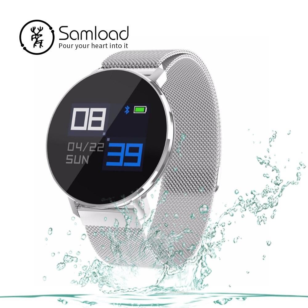 Samload Fashion Smart Watch Sport Wristband Fitness Tracker Alarm Clock Metal Strap Sleep Tracker for Men