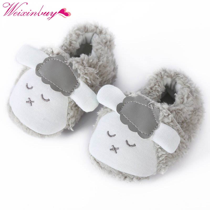 Shoes Baby-Girls Soft-Slipper First-Walkers Booties Infant Winter Warm Cute Crib Plush