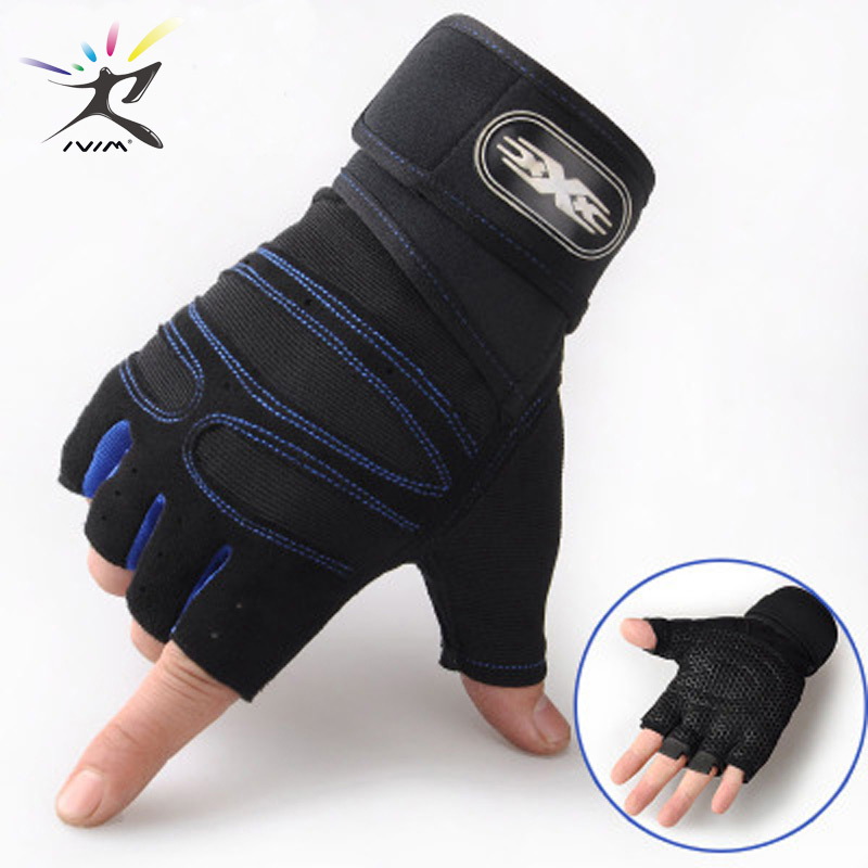 Gym Gloves Bodybuilding Gym Weights Gloves Sports Exercise Weight Lifting Fitness Barbell Cycling Gloves Breathable Non-Slip