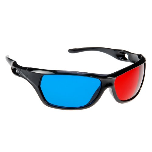 CES Hot 2Pcs Red Blue 3D Plastic Glasses for 3D Movie Game Red for Left Blue for Right