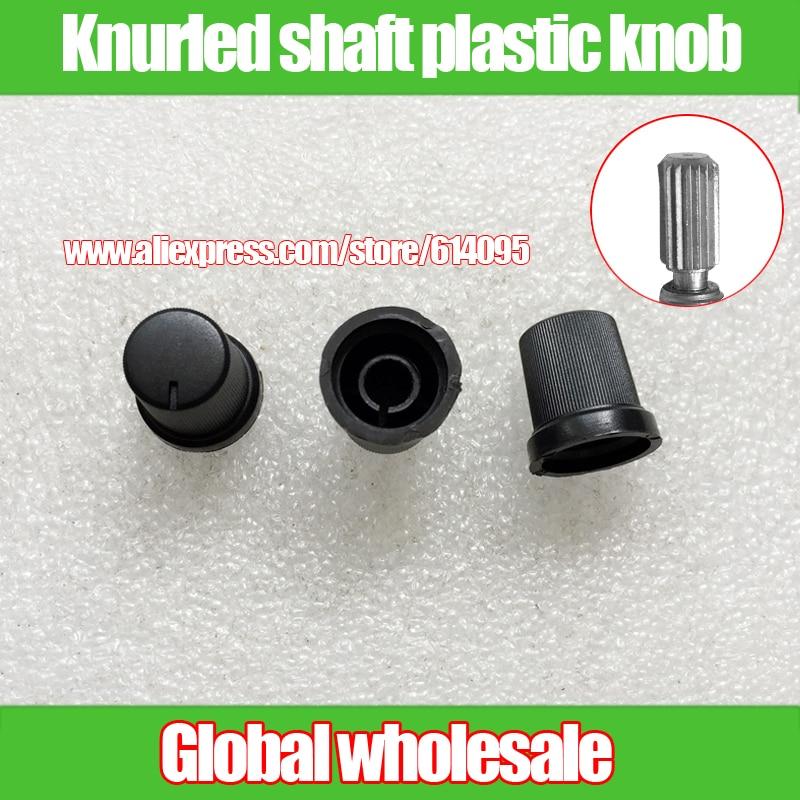 High 18*17mm 10pcs Black Potentiometer Encoder Flower Shaft Knob Cap Audio Volume Switch Plastic Knob Cap