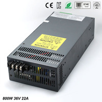 Universal36V 22A 800W Regulated Switching Power Supply Transformer100 240V AC to DC For LED Strip Light Lighting CNC CCTV MOTOR