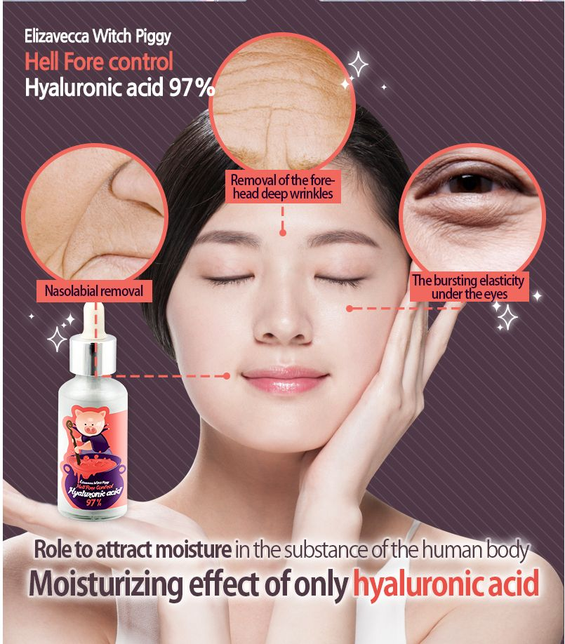 US $4 98 63% OFF Elizavecca Witch Piggy Hell Pore Control Hyaluronic Acid  97% Moisturizing Face Cream Skin Care Whitening Ageless Anti Winkles-in