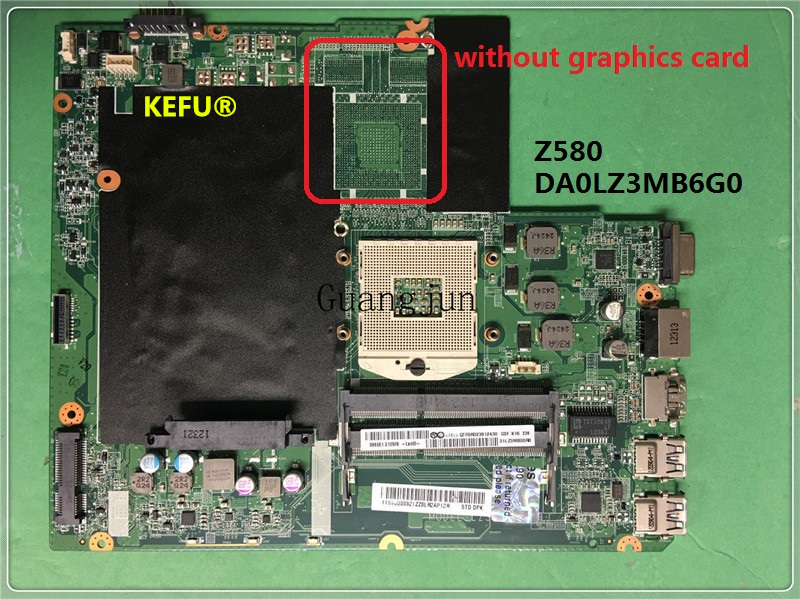 KEFU FREE SHIPPING DA0LZ3MB6G0 for Lenovo Z580 motherboard mainboard Fully tested working