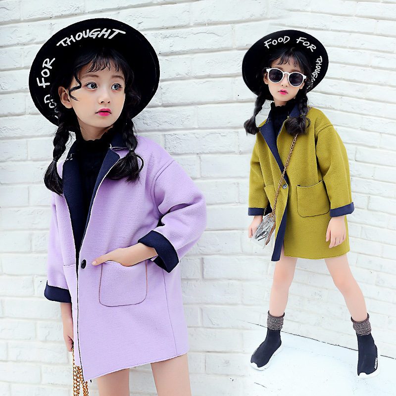 9338458564d6 Girls Clothes Trench Coats Jackets For Clothing Tops Kids Children...