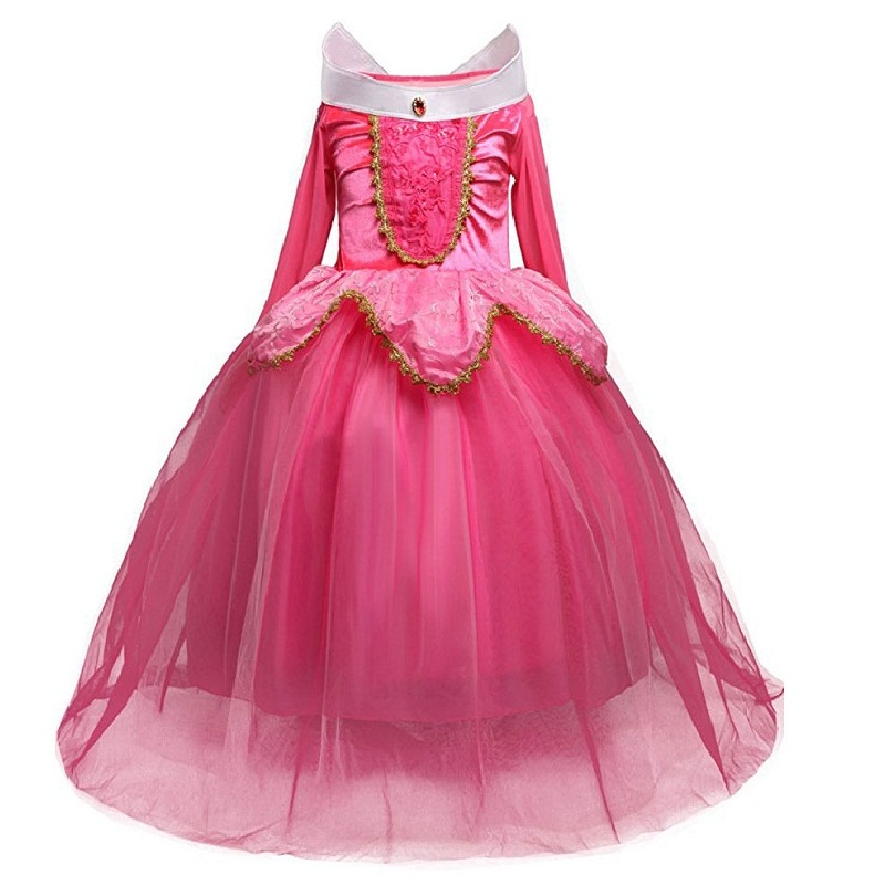 New Summer Christmas cosply Baby Girls Dress  Party Dress Kids Princess Dresses for girls Vestidos Girls Clothes Infantis 2017 summer brand new baby girls dress kids clothes vestidos children cartoon dress princess party dresses polka dot