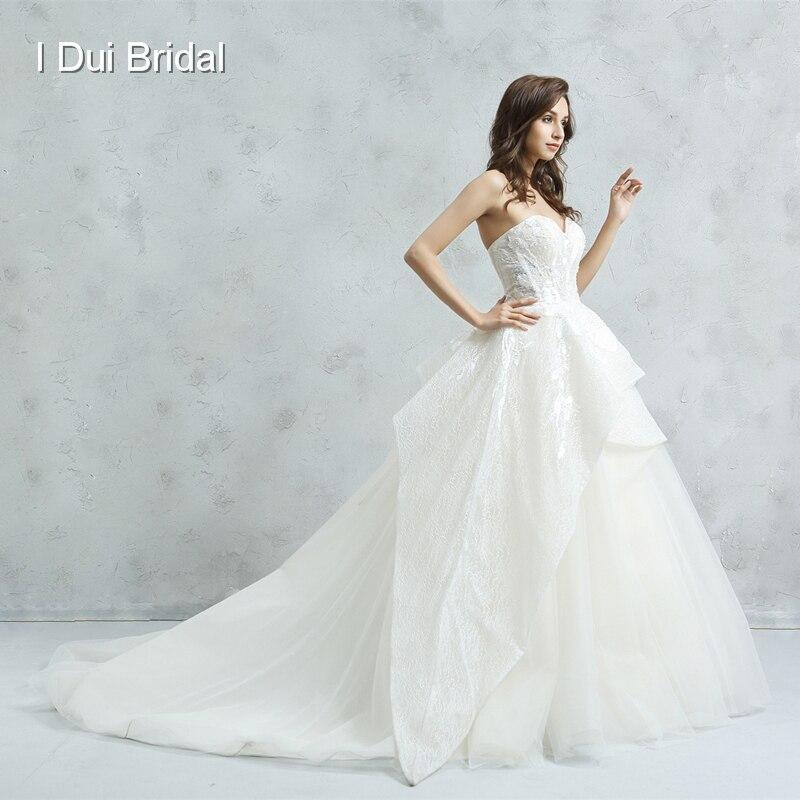 Sweetheart Leaf Lace Wedding Dress Little Pearl Beaded