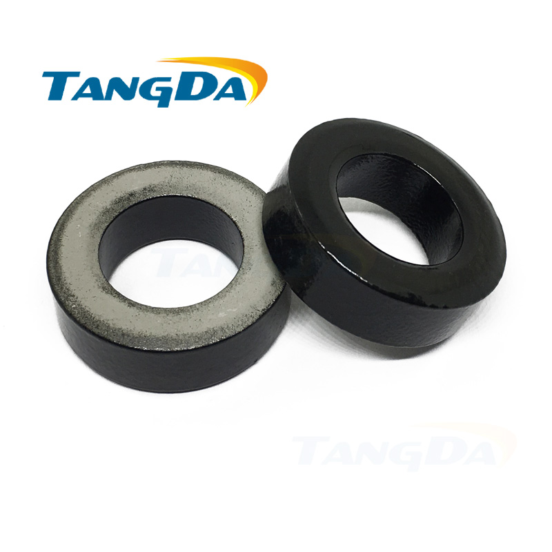 Tangda Iron powder cores T130-10 OD*ID*HT 34*19*11.6 mm 8nH/N2 6uo Iron dust core Ferrite Toroid Core toroidal black gray AGTangda Iron powder cores T130-10 OD*ID*HT 34*19*11.6 mm 8nH/N2 6uo Iron dust core Ferrite Toroid Core toroidal black gray AG