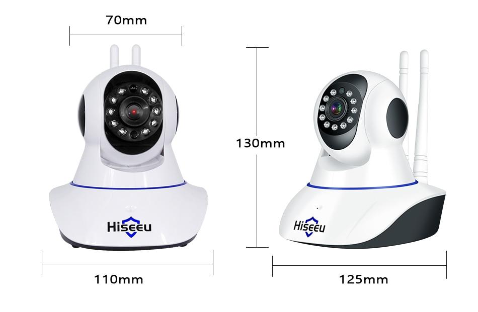 HTB1 J1mXG1s3KVjSZFtq6yLOpXao Hiseeu Home Security 1080P 3MP Wifi IP Camera Audio Record SD Card Memory P2P HD CCTV Surveillance Wireless Camera Baby Monitor