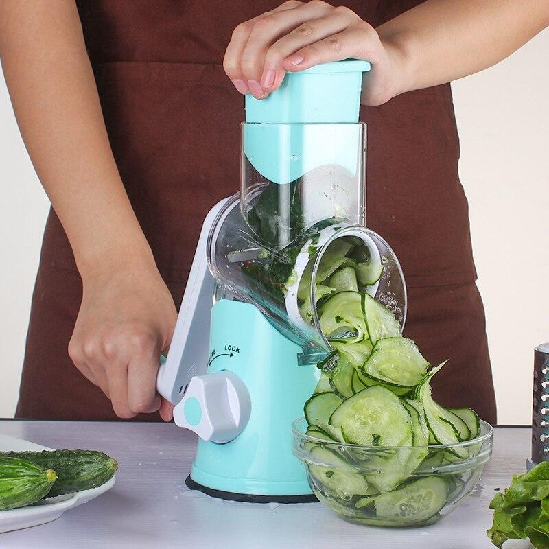 Karottenreibe Gemüseschneider Runde Mandoline Slicer Reibe Für - Küche, Essen und Bar - Foto 5
