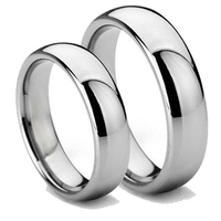 Tailor Made 6mm 4mm Classic Matching Tungsten Carbide Wedding Ring Set Size 4 18 CNR01