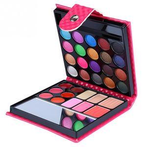 Image 1 - Cosmetics Shimmer Pearl Eyeshadow Palette Natural 32 Colors Makeup Up Modification Lip Gloss Blush Set Brush Button Bag