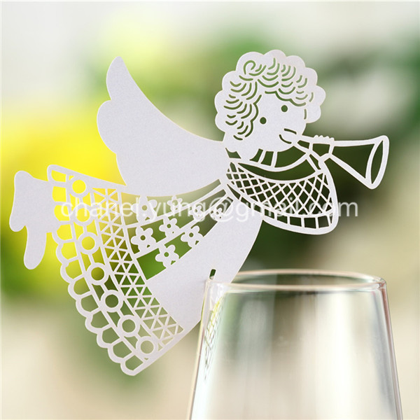 100pcs 2014 laser name place card cup paper card table for Table 52 cards 2014