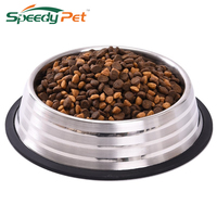 Stainless Steel Dog Feeders Pet Feeding Bowl Multiple Sizes Cat Food Water Bowl Water Food Dish