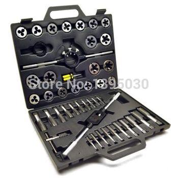 1Set Alloy steel 45pcs Metric/British Taper Tap Drill Bit Screw Die Thread Tool Set