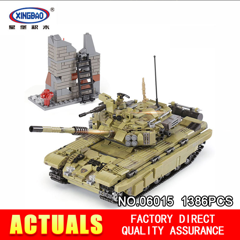 XingBao 06015 1386PcsThe Scorpio Tiger Tank Set DIY Real Military Series Building Blocks Bricks Toys Educational Gifts Model