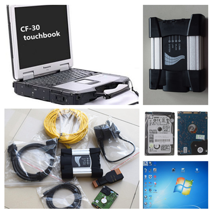 Best For BMW ICOM NEXT A+B+C 2016 New Generation OF ICOM A2 with Laptop CF-3 touch screen ( 7500CPU,4gb )Full kit & Ready to use