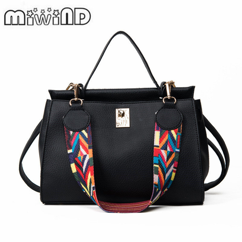 2017 Miwind Fashion Women Handbag Famous Designer Brand Bags Pu Totes Bag Vintage Serpentine Shoulder Crossbody In Top Handle From