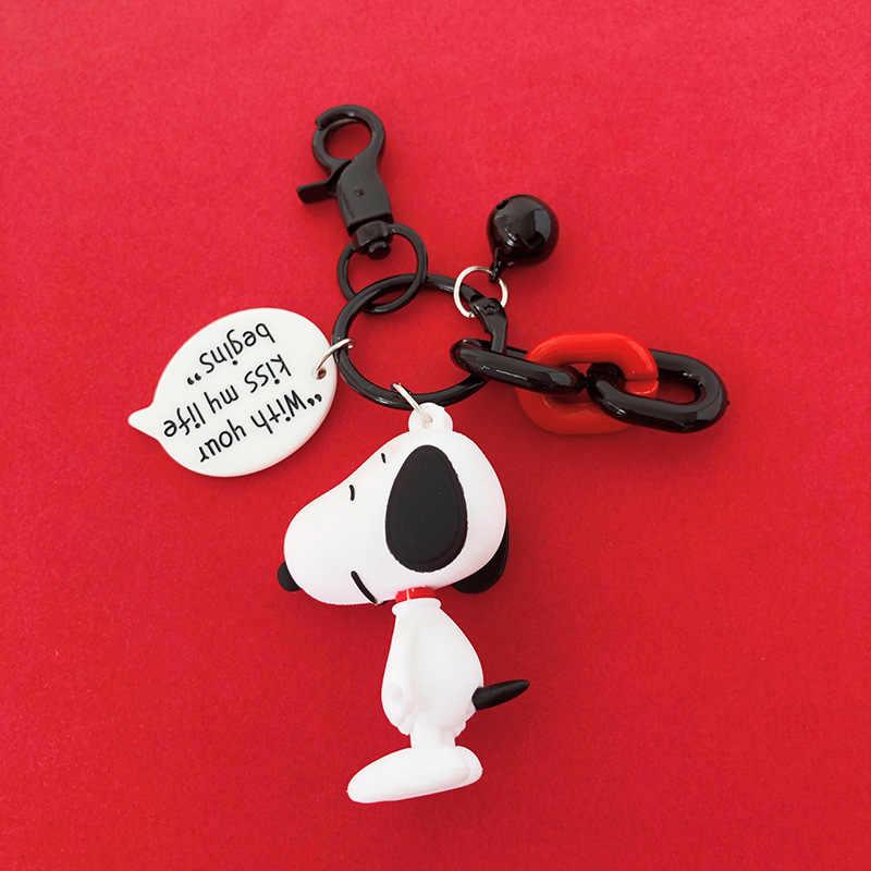 ใหม่อะนิเมะ Key Chain Charlie brown Snoopy ตัวอักษรตุ๊กตา Key chain สำหรับบุรุษและสตรีกระเป๋าตุ๊กตา car Key