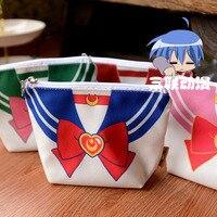Harajuku Sailor Moon Makeup Bag Anime Cartoon Cosplay Zipper Bag High Quality Handbag Canvas Cosmetic Bag
