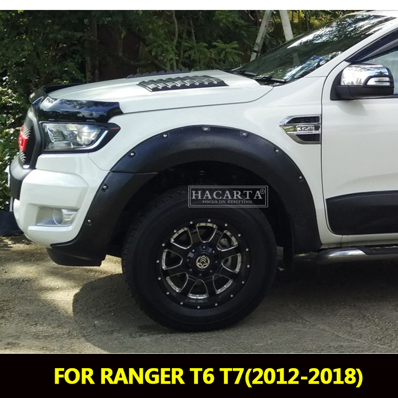 Fender Flares  For Ford Ranger 2012 2013 2014 T6  2015-2018 T7  Wheel Arch Accessories Black Color MudguardsFender Flares  For Ford Ranger 2012 2013 2014 T6  2015-2018 T7  Wheel Arch Accessories Black Color Mudguards