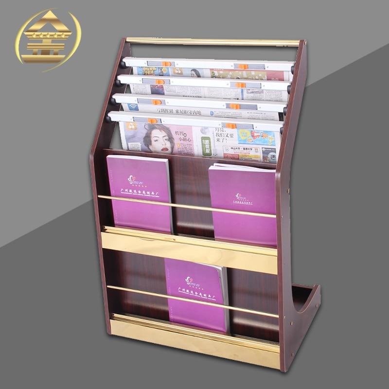 aliexpresscom buy titanium wood magazine newspaper rack newspaper shelf do studies promotional materials display landing frame rack from reliable rack