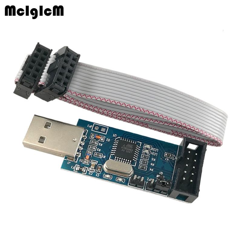 MCIGICM 50pcs YS-38 USB ISP Programmer for ATMEL AVR ATTiny 51 AVR Board ISP USBISP usbasp