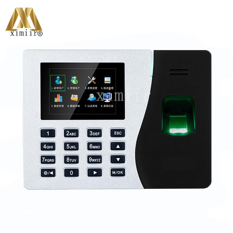 TCP/IP Fingerprint Time Recorder Time Clock K14 ZK Biometric Fingerprint Time Attendance System