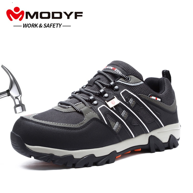MODYF Men's Steel Toe Work Safety Shoes Lightweight