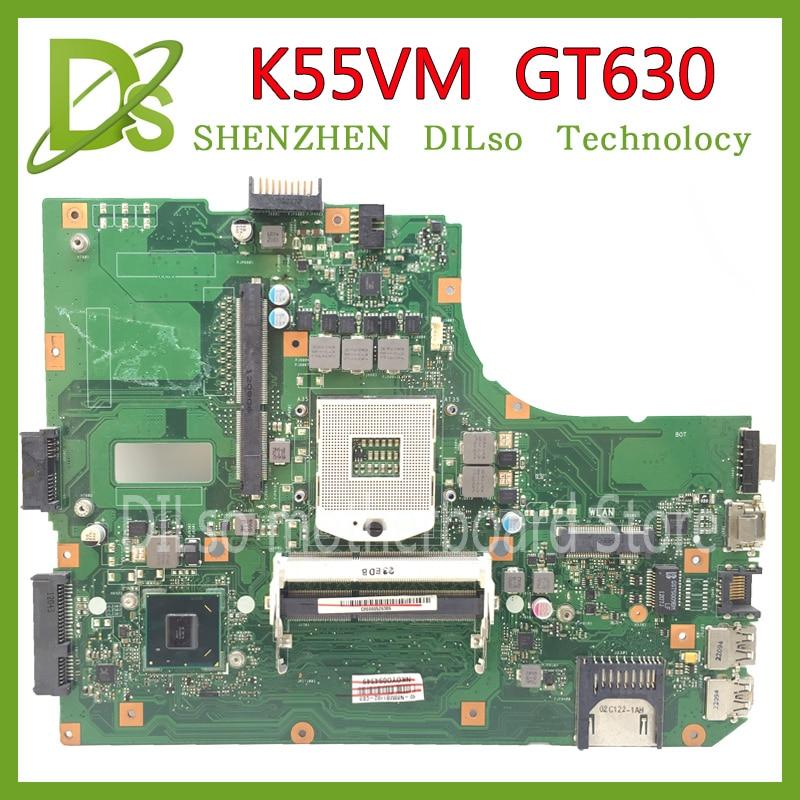 KEFU K55VM motherboard for ASUS K55VM laptop motherboard K55VM HM65 PGA 989 GT630 100% tested motherboard for asus motherboard k73sj rev2 5 mainboard hm65 pag 989 gt520m non intergated 100% test work well