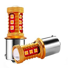2 pièces 1156PY 7507 PY21W BAU15S 1000Lm 15 SMD 3030 LED voiture arrière Direction indicateur lampe Auto avant clignotant lumière ambre jaune