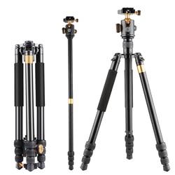 2018 hot QZSD High quality OEM Welcome 163cm Q999B Professional monopod for cellphone Aluminum Digital DSLR Video Camera tripod