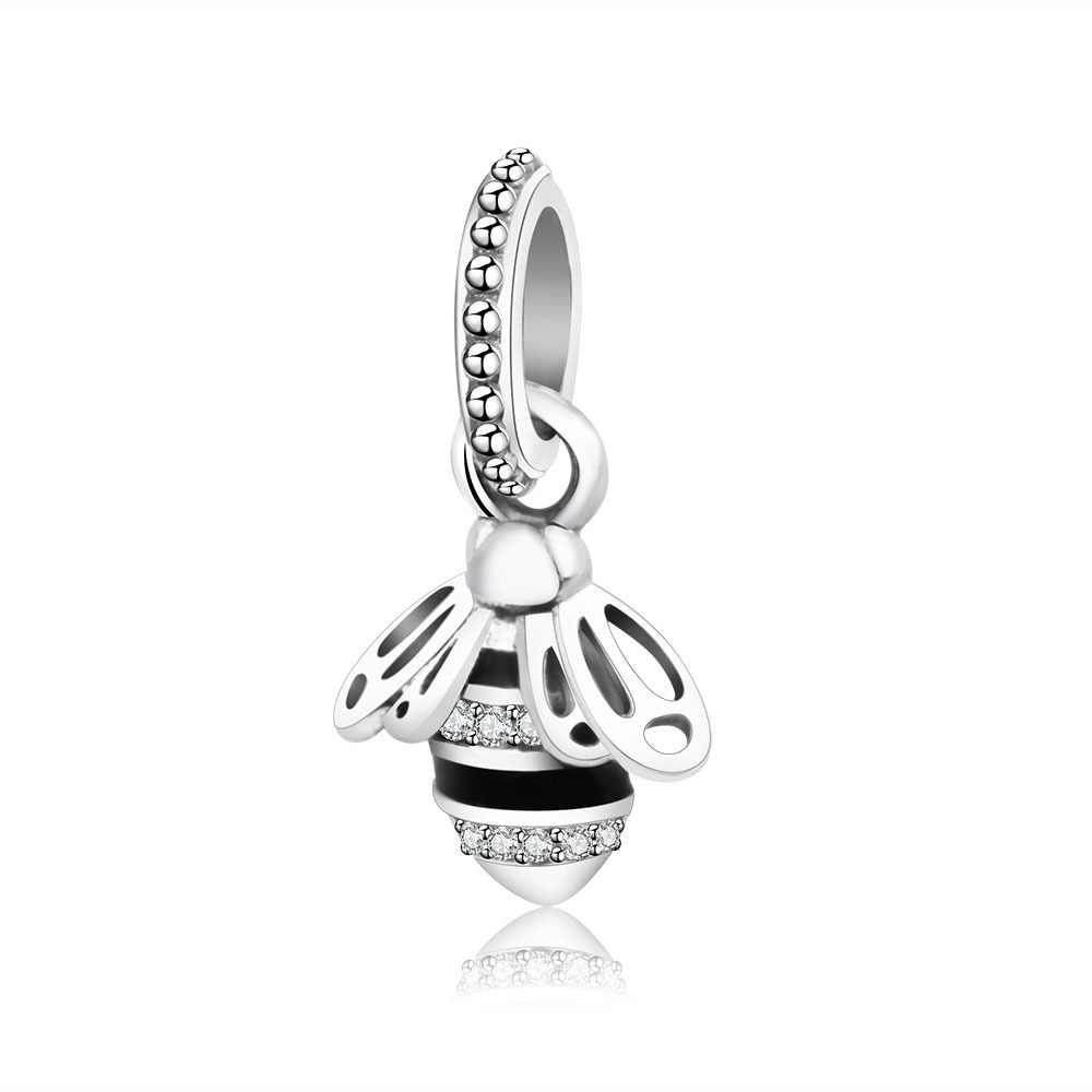 6dc96eec5 Fit Original Pandora Charm Bracelet 925 Sterling Silver Beads Animal Honey Bee  Charms DIY Jewelry Making