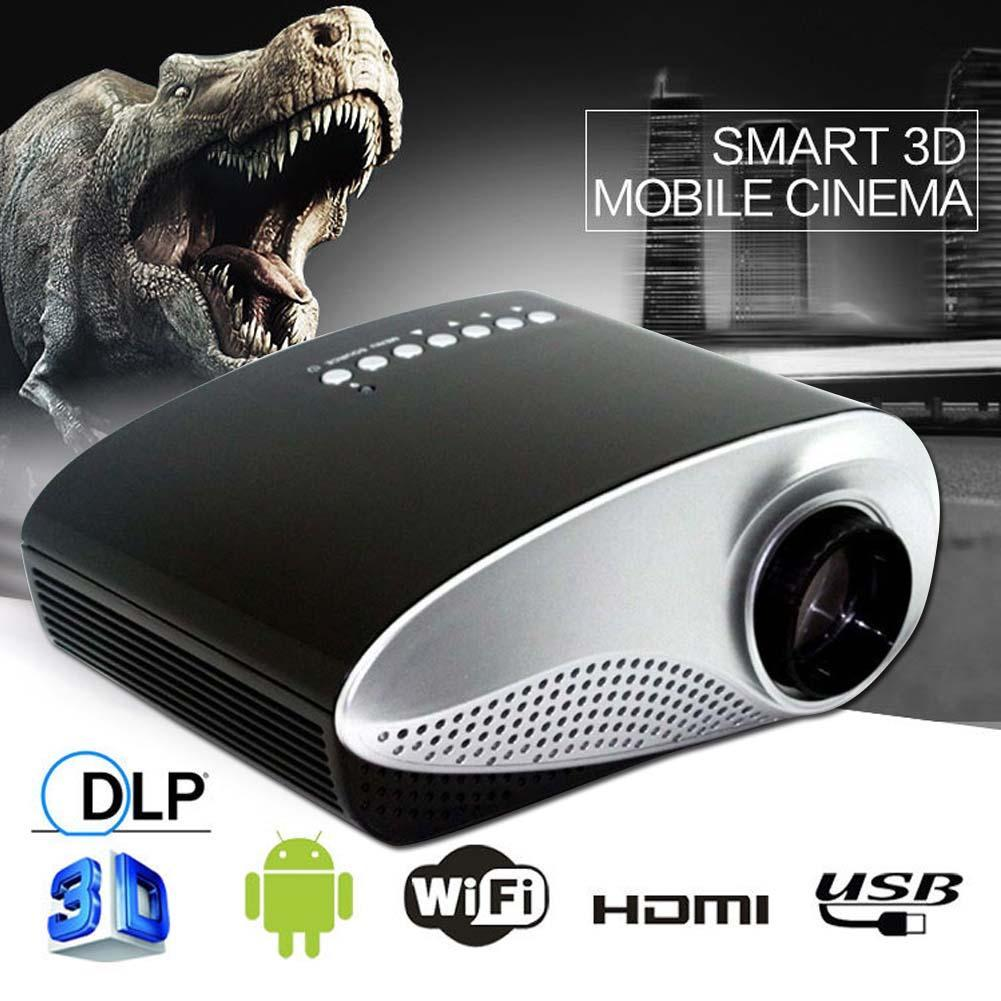 HD 1080P AV HDMI Home Cinema Theater Movie Multimedia LED Projector Black US hdmi projector usb projector APE