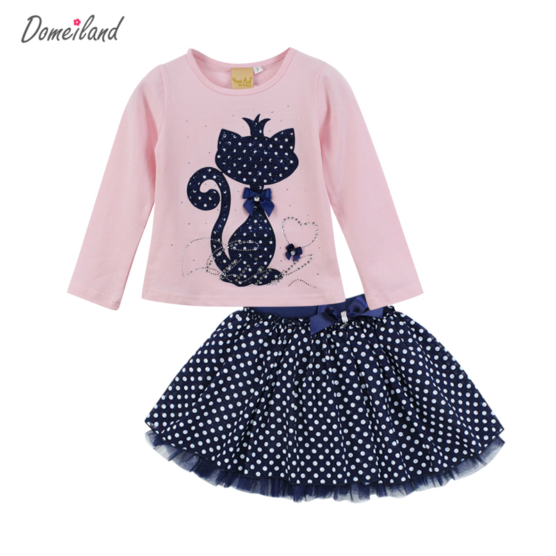 2017-Fashion-Spring-DOMEILAND-Boutique-Outfits-Baby-clothes-Girls-Sets-Cute-cat-Print-Long-Sleeve-Tops-Bow-Tutu-Skirts-suits-1
