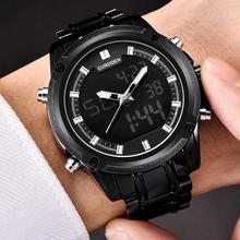 купить Sport Men Round Dial Pointers Alloy Linked Strap Quartz Electronic Wrist Watch по цене 804.37 рублей