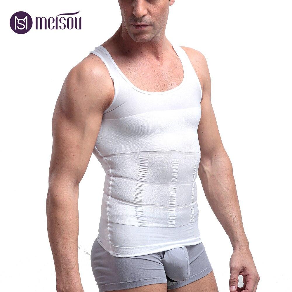 T-Shirt Men Body Shaper Belly Slimming Vest Loss Weight Plus Size Perfect Sport Tshirt Tank Top Waist Slim Girdle Men Bodyshaper