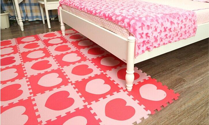 Marjinaa tappetini in schiuma eva pz rosso rosa incastro