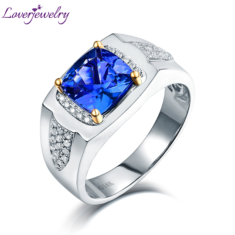 Tanzanite Buying Tanzanite: Aliexpress.com : Buy Simple Design Real 14K White Gold