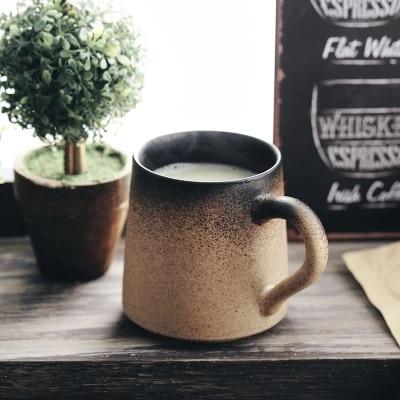 Retro coffee <font><b>cup</b></font> Handmade Ceramic <font><b>Mug</b></font> <font><b>Cup</b></font> <font><b>Japanese</b></font> creative office Free shipping