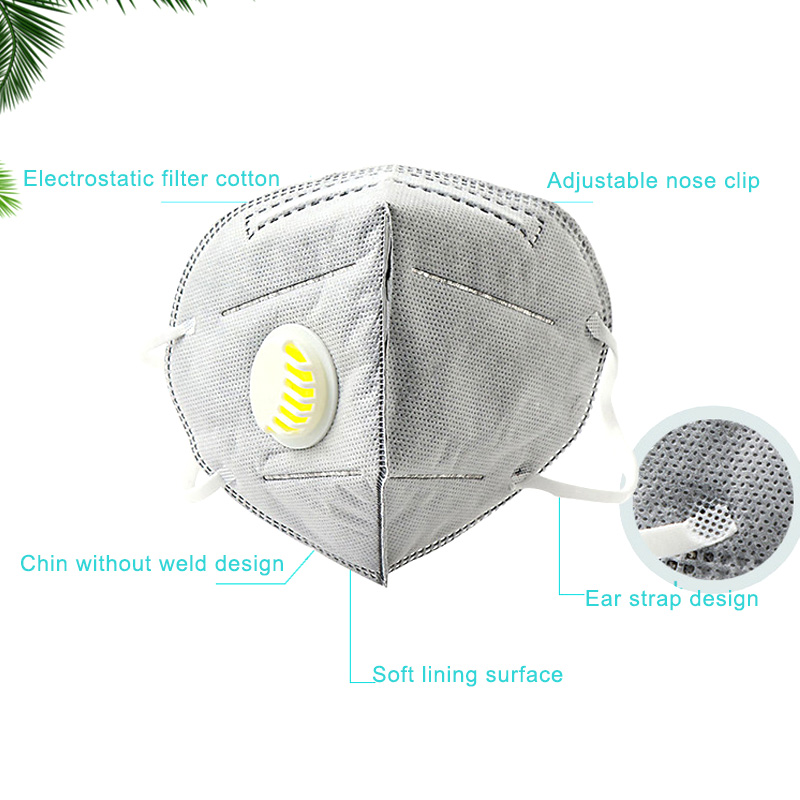 10 Pcs Disposable Activated Carbon Mouth Face Mask Breathable Dustproof PM2.5 KS-shipping
