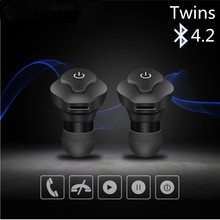 AF-A1 Twins TWS Wireless Earphone Mini Bluetooth V4.2 Headphones earbuds Stereo Sports music Headset for IPhone Samsung Xiaomi new wireless bluetooth mini 6 headset stereo earphone portable headphones candycolor headset for iphone samsung xiaomi sony