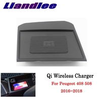 Qi Wireless Charger For Peugeot 408 508 2016~2019 Phone Holder Wireless Charging Smart wireless charger Original glove box