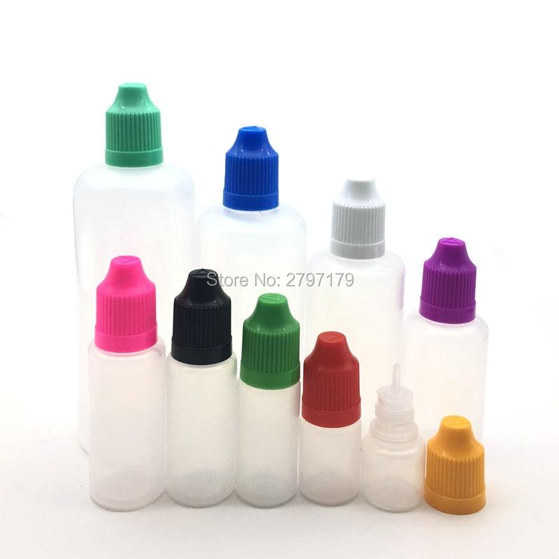 5pcs 3/5/10/15/20/30/50/60/100/120ml LDPE Dropper Bottles E Liquid Eye Liquid Dropper Sample Eyes Drop Refillable Bottle