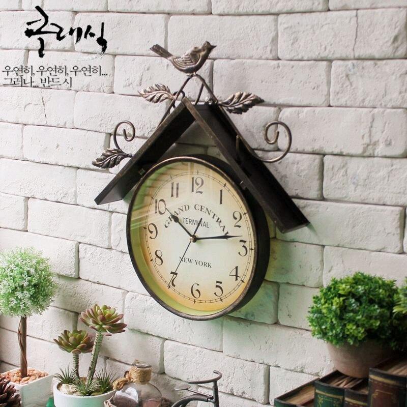 Horloge Murale Vintage décor à la maison montre Murale Saat Reloj Relogio De Parede Horloge Murale Decoracion Hogar
