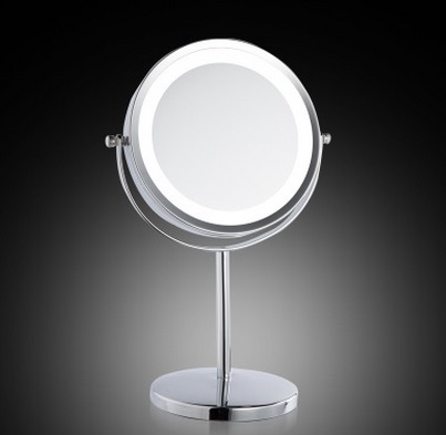 SpringQuan 7 Inch LED Double Sides Cosmeticaspiegel 1 / 3X Zoom tafel - Huidverzorgingstools - Foto 2
